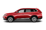 Car Driver side profile view of a 2016 Mitsubishi Outlander Intense Premium 5 Door SUV Side View