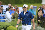 Rory McIlroy (NIR) arrives on the 1st tee to start his round on Day 2 of the BMW PGA Championship Championship at, Wentworth Club, Surrey, England, 27th May 2011. (Photo Eoin Clarke/Golffile 2011)