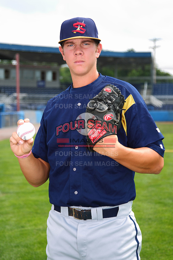 State College Spikes pitcher Nick Kingham #31 poses for a photo before a game against the Batavia Muckdogs at Dwyer Stadium on July 7, 2011 in Batavia, New York.  Batavia defeated State College 16-3.  (Mike Janes/Four Seam Images)