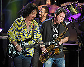 FORT LAUDERDALE, FL - NOVEMBER 07: Steve Lukather and Warren Ham of Ringo Starr & His All-Starr Band perform at The Parker Playhouse on November 7, 2017 in Fort Lauderdale Florida. Credit Larry Marano © 2017