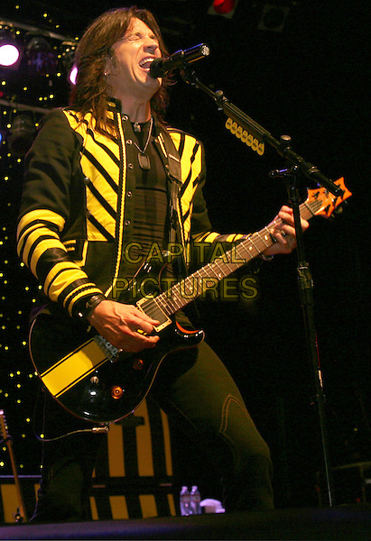 STRYPER - Michael Sweet.At the world famous Wildhorse Saloon, Nashville, TN, USA..October 30th, 2009.stage concert live gig performance music half 3/4 length black yellow jacket guitar singing.CAP/ADM/RR.©Randi Radcliff/AdMedia/Capital Pictures.