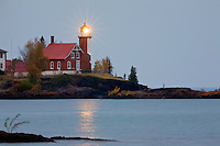 Photography based Fine Art image oEagle Harbor Lighthouse, Upper Peninsula, Michigan
