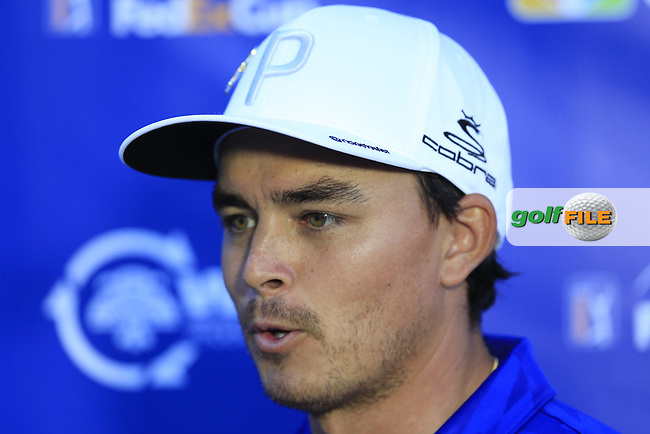 Rickie Fowler (USA) after the 2nd round of the Waste Management Phoenix Open, TPC Scottsdale, Scottsdale, Arisona, USA. 01/02/2019.<br /> Picture Fran Caffrey / Golffile.ie<br /> <br /> All photo usage must carry mandatory copyright credit (&copy; Golffile | Fran Caffrey)