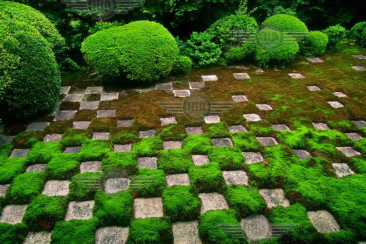 The Zen garden at Tofuku-ji Buddhist Temple.