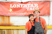 BROOKLYN, NY - SEPTEMBER 7, 2013: Tracie Lee and Wayne Surber of Lonestar Taco competed in the Markets competition at the annual Vendy Awards. CREDIT: Clay Williams for Serious Eats. <br /> <br /> <br /> &copy; Clay Williams / http://claywilliamsphoto.com