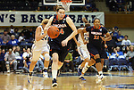 02 January 2012: Virginia's Lexie Gerson. The Duke University Blue Devils defeated the University of Virginia Cavaliers 77-66 at Cameron Indoor Stadium in Durham, North Carolina in an NCAA Division I Women's basketball game.