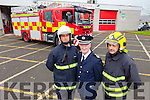 Maurice O'Connell and John Fitzgerald pictured with Chief Actiing Fire Officer Vincent Hussey.