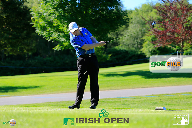Darren Clarke (NIR) team during Wednesday's Pro-Am of the 2014 Irish Open held at Fota Island Resort, Cork, Ireland. 18th June 2014.<br /> Picture: Eoin Clarke www.golffile.ie