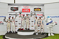 IMSA WeatherTech SportsCar Championship<br /> Northeast Grand Prix<br /> Lime Rock Park, Lakeville, CT USA<br /> Saturday 22 July 2017<br /> 911, Porsche, Porsche 911 RSR, GTLM, Patrick Pilet, Dirk Werner, Victory Lane<br /> World Copyright: Gavin Baker<br /> LAT Images