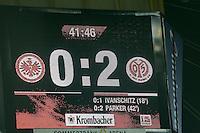 Spielstand 0:2 im Derby