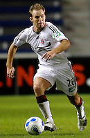 DC United defender Brian Namoff (26) dribbles the ball.  The Chicago Fire defeated the DC United 3-0 in the semifinals of the U.S. Open Cup at Toyota Park in Bridgeview, IL on September 6, 2006...