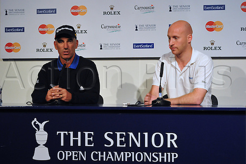 21/07/2010 Ryder Cup captain Corey Pavin (USA) at a press conference prior  to the Mastercard British Senior Open Golf Championship on the Championship Course at Carnoustie, Angus, Scotland