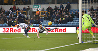 Bolton Wanderers' Mark Beevers scores his side's first goal  <br /> <br /> Photographer Rob Newell/CameraSport<br /> <br /> The EFL Sky Bet Championship - Millwall v Bolton Wanderers - Saturday 24th November 2018 - The Den - London<br /> <br /> World Copyright &copy; 2018 CameraSport. All rights reserved. 43 Linden Ave. Countesthorpe. Leicester. England. LE8 5PG - Tel: +44 (0) 116 277 4147 - admin@camerasport.com - www.camerasport.com