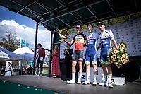 podium:<br /> 1st place: Aimé De Gendt (BEL/Wanty Gobert)<br /> 2nd place: Belgian Champion Tim Merlier (BEL/Corendon Circus)<br /> 3th place: Timothy Dupont (BEL/Wanty Gobert)<br /> <br /> <br /> Antwerp Port Epic 2019 <br /> One Day Race: Antwerp > Antwerp 187km<br /> <br /> ©kramon