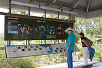The Royal Palm Visitor center offers interpretive exhibits and information on the Everglades.