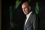 Zinedine Zidane during the press conference of the official presentation of Zinedine Zidane as new Manager of Real Madrid at Santiago Bernabeu Stadium in Madrid, Spain. March 11, 2019. (ALTERPHOTOS/A. Perez Meca)