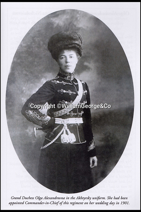 BNPS.co.uk (01202 558833)<br /> Pic: WilliamGeorge&Co/BNPS<br /> <br /> Grand Duchess Olga Alexandrovna in the Akhtyrsky uniform.<br /> <br /> A remarkable series of letters from one of the surviving Romanovs have been unearthed which reveal her 'hate' towards the Allies in the aftermath of the Russian Revolution.<br /> <br /> The Grand Duchess Olga Alexandrovna - the younger sister of Tsar Nicholas II - penned more than 50 letters to her sister Xenia between 1916 and 1920 which provide a fascinating insight into the perilous existence of the Romanovs, the last Russian royal family.<br /> <br /> The letters were written mostly in English to get past the censors since the Romanovs lived in constant fear of assassination by Bolshevik forces.