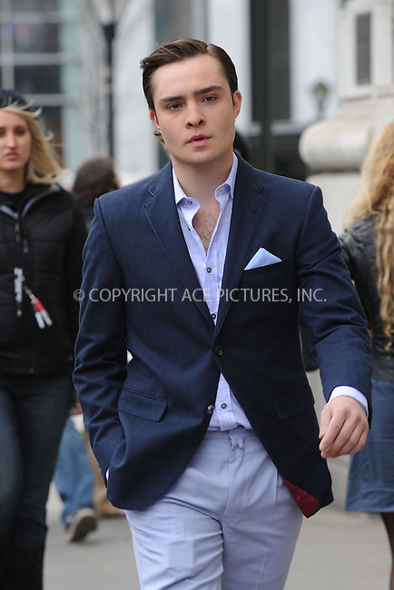 WWW.ACEPIXS.COM . . . . . ....March 16 2009, New York City....Actor Ed Westwick on the set of of the TV show 'Gossip Girl' outside the Plaza Hotel in midtown Manhattan on March 16 2009 in New York City.....Please byline: KRISTIN CALLAHAN - ACEPIXS.COM.. . . . . . ..Ace Pictures, Inc:  ..tel: (212) 243 8787 or (646) 769 0430..e-mail: info@acepixs.com..web: http://www.acepixs.com