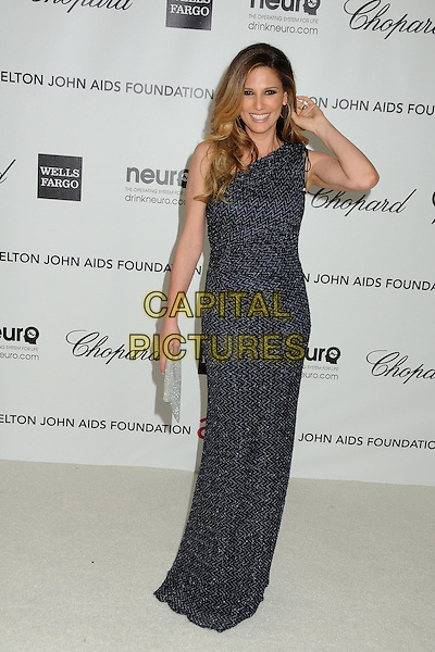 Daisy Fuentes.20th Annual Elton John Academy Awards Viewing Party held at West Hollywood Park, West Hollywood, California, USA..February 26th, 2012.full length dress one shoulder hand arm.CAP/ADM/BP.©Byron Purvis/AdMedia/Capital Pictures.