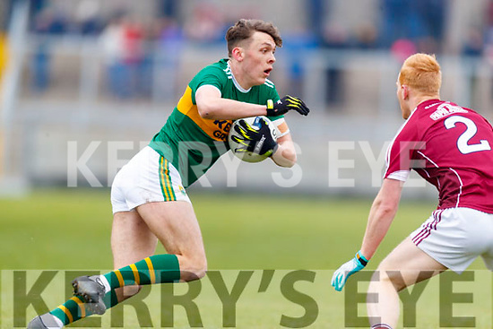 David Clifford Kerry in action against Declan Kyne Galway in the Allianz Football League Division 1 Round 4 match between Kerry and Galway at Austin Stack Park, Tralee, Co. Kerry.