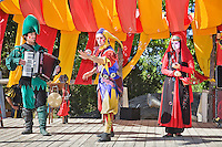 The Renaissance Fair is held each September at the historic museum of El Rancho de Las Golondrinas near Santa Fe and features dancers, kinghts, acrobats and many other performers all celebrating the culture and life style of the Medieval Middle Ages.  Clan Tynker is a family troup which performs magic, acrobatics, juggling and other feats that keep the crowd entertained.