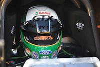 Jan 29, 2008; Chandler, AZ, USA; NHRA funny car driver Ashley Force during testing at the National Time Trials at Firebird International Raceway. Mandatory Credit: Mark J. Rebilas-US PRESSWIRE