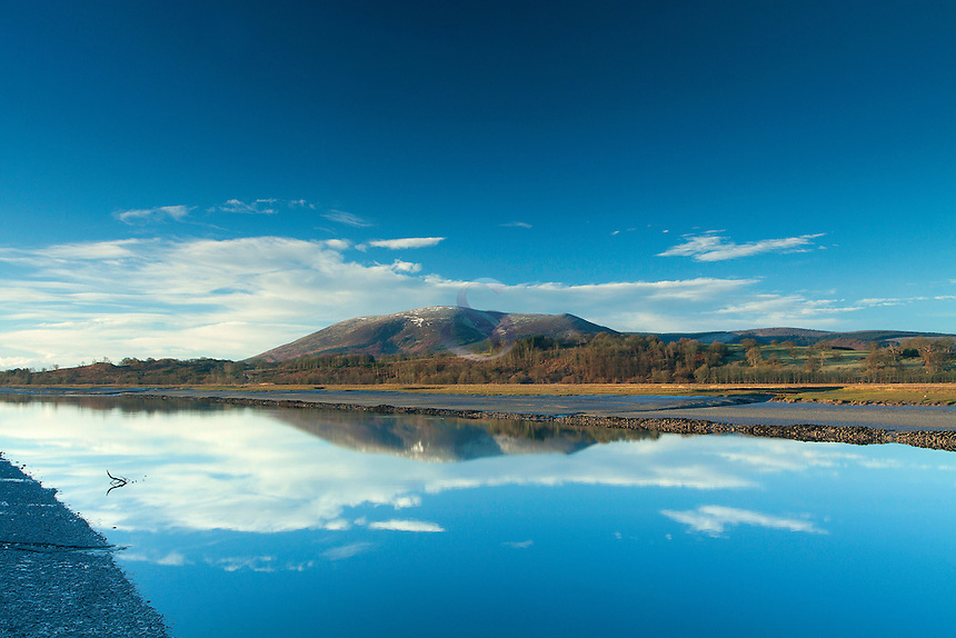 Criffel and the River Nith at dawn from Glencaple, Galloway