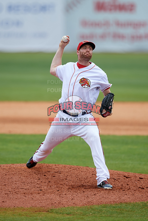 Florida Fire Frogs relief pitcher Chase Whitley (49) delivers a pitch during a game against the Daytona Tortugas on April 8, 2018 at Osceola County Stadium in Kissimmee, Florida.  Daytona defeated Florida 2-1.  (Mike Janes/Four Seam Images)