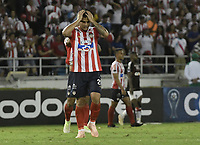 BARRANQUIILLA - COLOMBIA, 05-12-2018: Jefferson Gomez de Junior luce decepcionado tras el encuentro entre Atlético Junior de Colombia y Atlético Paranaense de Brasil por los cuartos de final, ida, de la Copa CONMEBOL Sudamericana 2018 jugado en el estadio Nemesio Camacho El Campin de la ciudad de Bogotá. / Jefferson Gomez of junior looks disappointed after the a final first leg match between Atletico Junior of Colombia and Atletico Paranaense of Brazil as a part of Copa CONMEBOL Sudamericana 2018 played at Roberto Melendez Metropolitan stadium in Barranquilla city.  Photo: VizzorImage / Gabriel Aponte / Staff