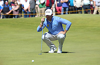 Lee Westwood (ENG) during Round One of the 145th Open Championship, played at Royal Troon Golf Club, Troon, Scotland. 14/07/2016. Picture: David Lloyd | Golffile.<br /> <br /> All photos usage must carry mandatory copyright credit (&copy; Golffile | David Lloyd)