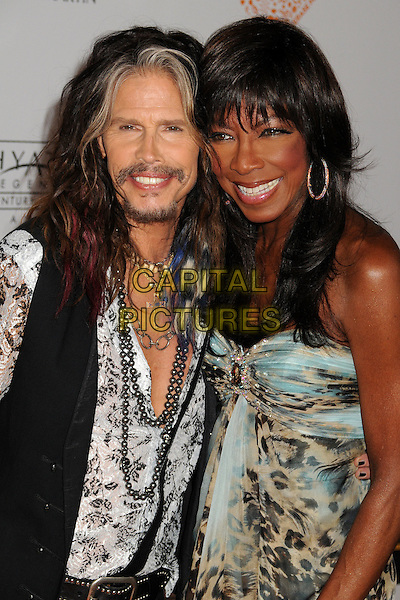 02 May 2014 - Century City, California - Steven Tyler, Natalie Cole. 21st Annual Race to Erase MS Gala held at the Hyatt Regency Century Plaza.  <br /> CAP/ADM/BP<br /> &copy;Byron Purvis/AdMedia/Capital Pictures