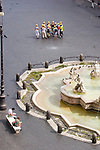 Rome; Italy; Piazza Navona, Europe; tour group in Rome,.