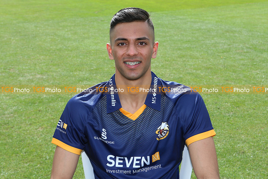Feroze Khushi of Essex in NatWest T20 Blast kit during the Essex CCC Press Day at The Cloudfm County Ground on 5th April 2017