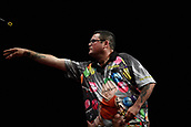 10th January 2018, Brisbane Royal International Convention Centre, Brisbane, Australia; Pro Darts Showdown Series; Raymond O'Donnel (AUS) in action during his match with Devon Peterson (RSA)