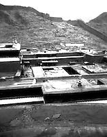 Arial view to interior of Shigatse Tashilhunpo Monastery Tibet