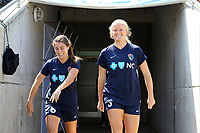 Cary, North Carolina  - Saturday August 19, 2017: Makenzy Doniak and Samantha Witteman prior to a regular season National Women's Soccer League (NWSL) match between the North Carolina Courage and the Washington Spirit at Sahlen's Stadium at WakeMed Soccer Park. North Carolina won the game 2-0.