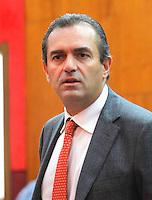 Luigi De Magistris durante le sue dichiarazioni in consiglio comunale <br /> Napoli 26/09/2014