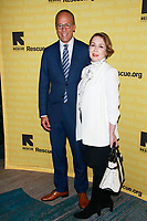 NEW YORK, NY - NOVEMBER 1:  Carol Hagen and Lester Holt  at IRC Hosts The 2018 Rescue Dinner at New York Hilton Midtown on November 1, 2018 in New York City.        <br /> CAP/MPI99 <br /> &copy;MPI99/Capital Pictures