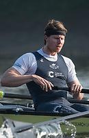 Putney, London,  Tideway Week, Championship Course. River Thames,  Oxford UBC.5: Olivier Siegelaar, <br /> Tuesday  28/03/2017<br /> [Mandatory Credit; Credit: Peter Spurrier/Intersport Images.com ]