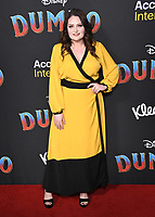 11 March 2019 - Hollywood, California - Lauren Ash. &quot;Dumbo&quot; Los Angeles Premiere held at Ray Dolby Ballroom. Photo <br /> CAP/ADM/BT<br /> &copy;BT/ADM/Capital Pictures