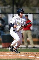 February 21, 2009:  Outfielder Grant Buckner (28) of West Virginia University during the Big East-Big Ten Challenge at Jack Russell Stadium in Clearwater, FL.  Photo by:  Mike Janes/Four Seam Images