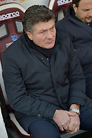 12th January 2020; Olympic Grande Torino Stadium, Turin, Piedmont, Italy; Serie A Football, Torino versus Bologna; Walter Mazzarri the coach of Torino FC in the dugout - Editorial Use