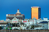 Atlantic City skyline at night, AC, NJ, New Jersey, USA