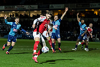Fleetwood Town's Wes Burns shoots at goal <br /> <br /> Photographer Andrew Kearns/CameraSport<br /> <br /> The EFL Sky Bet League One - Wycombe Wanderers v Fleetwood Town - Tuesday 11th February 2020 - Adams Park - Wycombe<br /> <br /> World Copyright © 2020 CameraSport. All rights reserved. 43 Linden Ave. Countesthorpe. Leicester. England. LE8 5PG - Tel: +44 (0) 116 277 4147 - admin@camerasport.com - www.camerasport.com