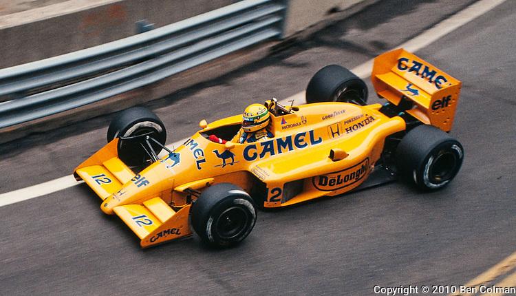 Ayrton Senna, Lotus 99T, Detroit 1987