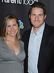 "WEST HOLLYWOOD, CA. - February 22: Sam Jaeger (R) and Amber Jaeger attend the Los Angeles premiere of ""Parenthood"" at the Directors Guild Theatre on February 22, 2010 in West Hollywood, California."