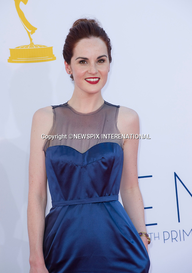 "MICHELLE DOCKERY - 64TH PRIME TIME EMMY AWARDS.Nokia Theatre Live, Los Angelees_23/09/2012.Mandatory Credit Photo: ©Dias/NEWSPIX INTERNATIONAL..**ALL FEES PAYABLE TO: ""NEWSPIX INTERNATIONAL""**..IMMEDIATE CONFIRMATION OF USAGE REQUIRED:.Newspix International, 31 Chinnery Hill, Bishop's Stortford, ENGLAND CM23 3PS.Tel:+441279 324672  ; Fax: +441279656877.Mobile:  07775681153.e-mail: info@newspixinternational.co.uk"
