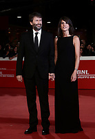 "Il ministro dei Beni Culturali e del Turismo Dario Franceschini posa con la moglie Michela Di Biase  durante il red carpet per la presentazione del film ""Motherless Brooklyn"" alla 14^ Festa del Cinema di Roma all'Aufditorium Parco della Musica di Roma, 17 ottobre 2019.<br /> Italian Minister of Cultural Heritage Dario Franceschini poses with his wife Michela Di Biase during the red carpetl to present the movie ""Motherless Brooklyn"" during the 14^ Rome Film Fest at Rome's Auditorium, on 17 october 2019.<br /> UPDATE IMAGES PRESS/Isabella Bonotto"