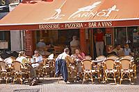 Brasserie de Carnot restaurant on Place Carnot. Beaune, cote de Beaune, d'Or, Burgundy, France