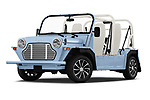 Stock pictures of low aggressive front three quarter view of a 2019 Moke America eMoke Base 5 Door SUV